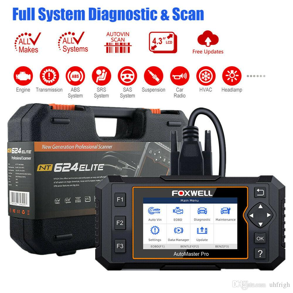 OBD2 Diagnostic Tool Scanner Full System Auto ABS SRS SAS CVT ESP Oil EPB Check