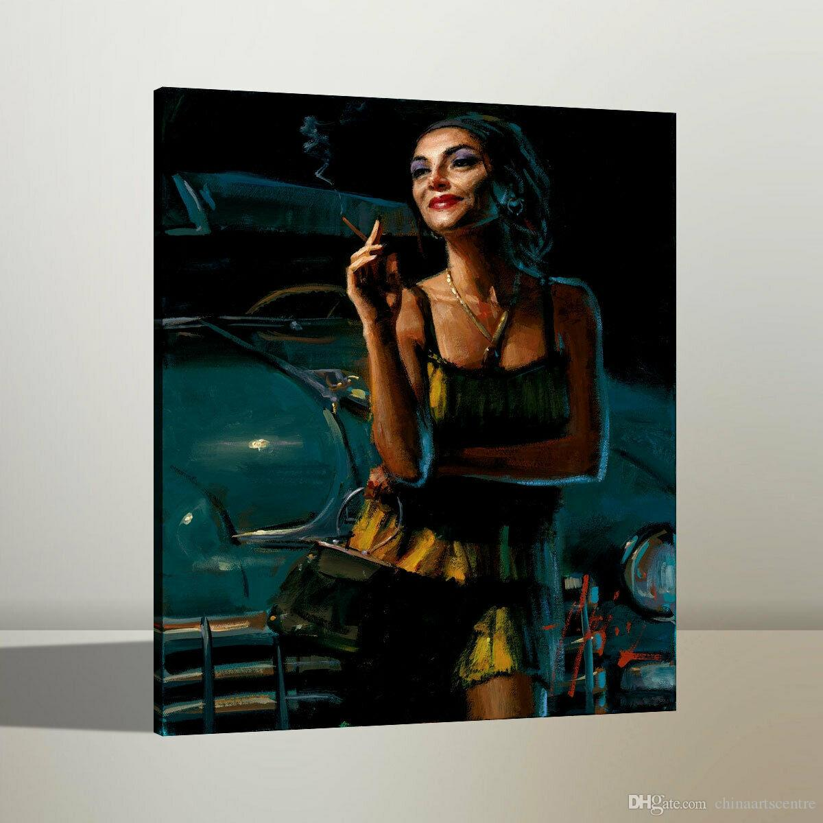Fabian Perez Glamour V High Quality Handpainted & HD Print Figure Portrait Art Oil Painting On Canvas Wall Art Home Office Deco p24