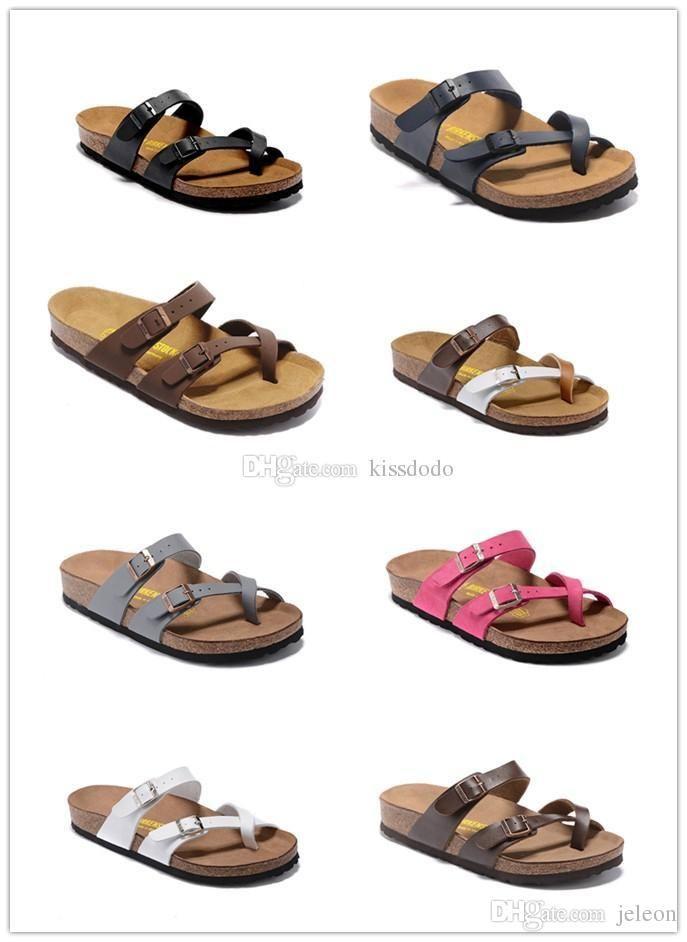 421a7b8bfbec Flip Flops Arizona 2019 Hot Sell Summer Men Women Flats Sandals Cork Slippers  Unisex Casual Shoes Print Mixed Colors Flip Flop Size 35 45 Black Boots ...