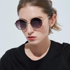 ab10b2809847 Round Sunglasses Fashion Women Sunglasses Girls Polygon Hollow Lens ...
