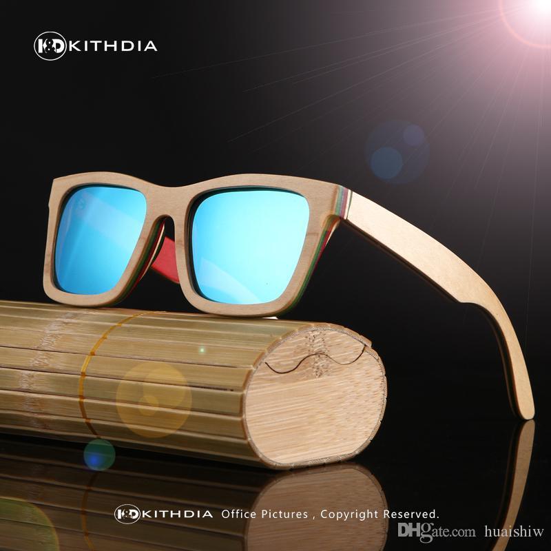 7f0a3774af Compre KITHDIA Gafas De Sol De Madera Clásicas Para Mujer Gafas De Sol De  Bambú Con Montura De Madera Gafas Polarizadas Sol Hombre Polarizadas Uv400  A ...