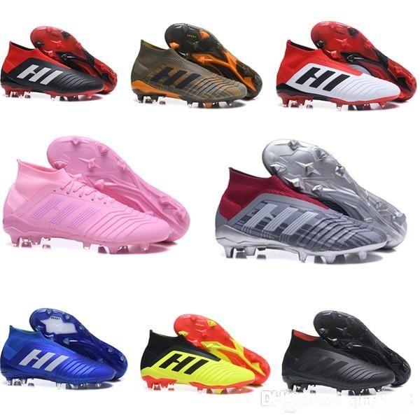 cc25edaed223b Compre 2019 Nuevo Para Hombre Botines De Fútbol Para Tobillo Predator 18 +  X Pogba FG Accelerator Zapatos De Fútbol DB PureControl Purechaos Tacos De  Fútbol ...