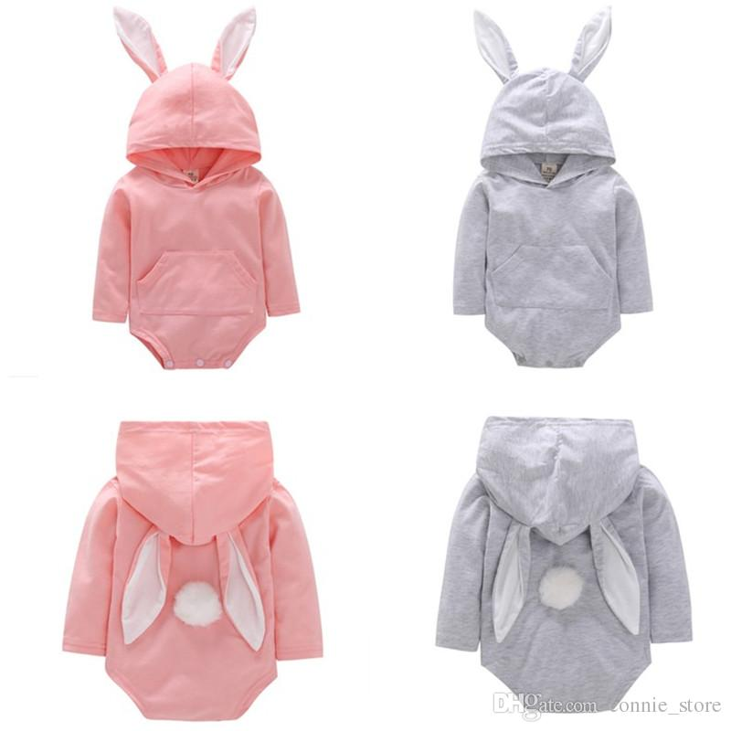 735551cfdba8 Baby Girls Boys Easter Rompers Jumpsuit Hooded Outfits New Animal ...