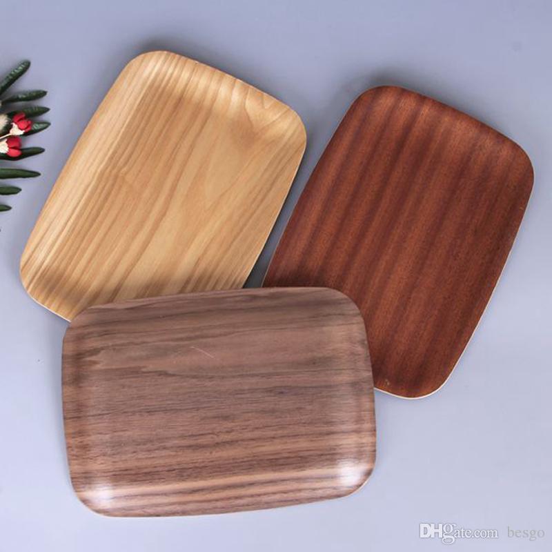 6cf1d61fd2cd Herramienta de cocina casera ecológica Nogal negro Placas de madera maciza  Bocadillo Pastel Pastel de madera