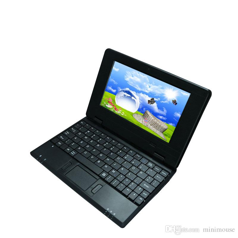 7inch Laptop computer 1G 8G ultra thin fashionable style Mini Notebook PC  professional manufacturer