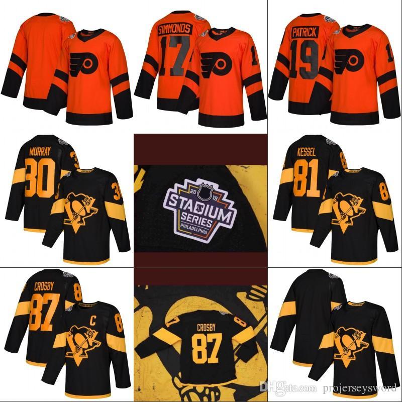 cheaper 2b385 8e39b 2019 Stadium Series Jerseys Philadelphia Flyers 28 Claude Giroux 17 Wayne  Simmonds 87 Sidney Crosby 71 Evgeni Malkin Hockey Jerseys