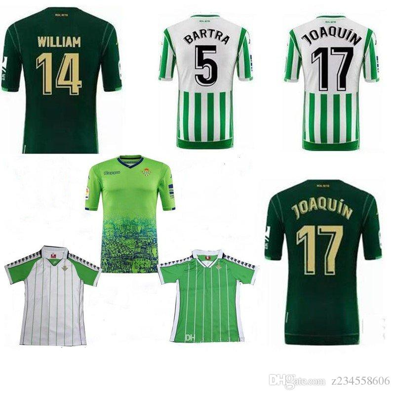 bbd41b2800563 2019 2018 19 Real Betis Camisetas De Fútbol Bartra Joaquín Tello Futbol  Camisetas Retro Fútbol Camisa Vintage Kit Kit Classic Maillot From  Z234558606