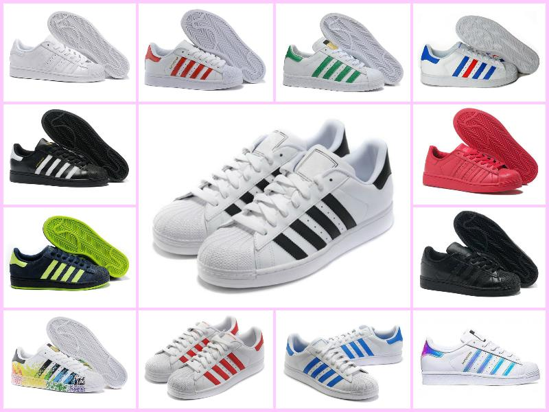 the latest a3865 00f1b Großhandel 2018 Superstar Original Weißes Hologramm Schillerndes JuniOr  GoLd Superstars Sneakers Originals Super Star Frauen Männer Sport  Laufschuhe 36 45 ...
