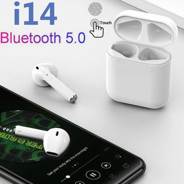 i14 mini baccelli aria TWS Touch control Wireless Bluetooth 5.0 super bass auricolare tws per IPX Android xiaomi samsung s10