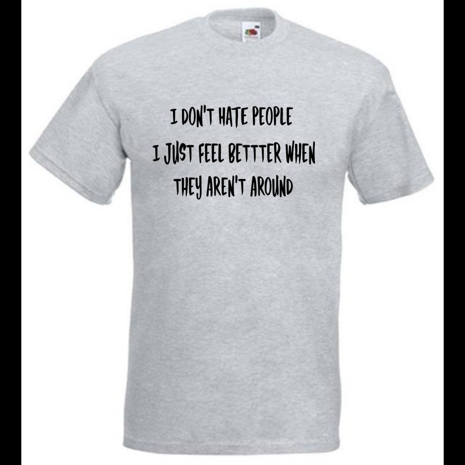 6abef410e1372 Acheter Je Ne Déteste Pas Les Gens Funny Slogan T Shirt Tees Tops Tops  Sarcastic Humor De $12.96 Du Boophotography | DHgate.Com