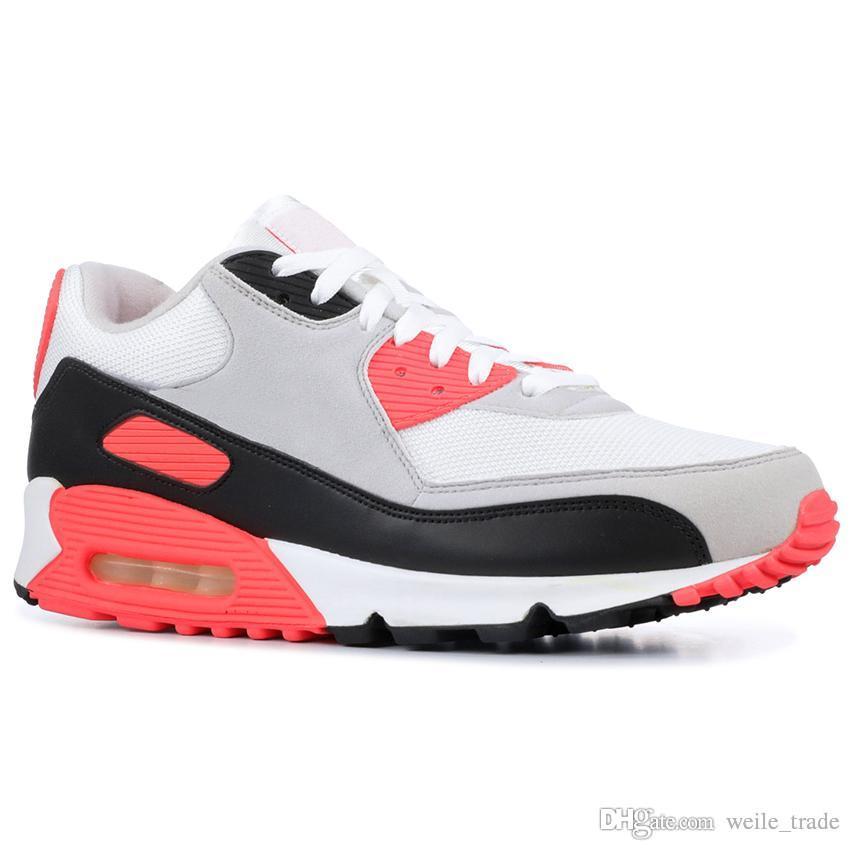 competitive price 4937a 3562b Compre Nike Air Max Airmax 90 2019 Hombre Mujer 90s Zapatos Para Correr  Negro Blanco Rosa Clásico 90 Hombres Mujer Marca Zapatillas De Deporte Zapatillas  De ...
