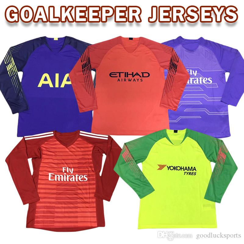 9bbcd2a52 2019 All GoalKeeper Galie Jersey Soccer Jersey Real Madrid Munich United  England Clubs Football Shirt Uniform Men Long Sleeves From Goodlucksports