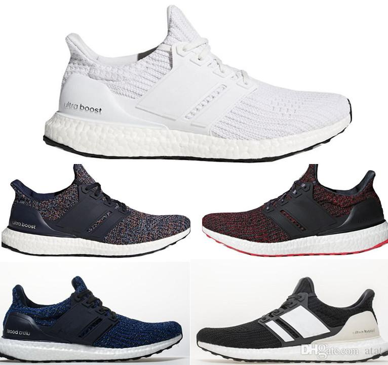 4e1157f689f18 Ultra Boost 4.0 Running Shoes Show Your Stripes Breast Cancer Awareness CNY  Black Multi Color Men Womens Real Boost Sneakers Size 36 48 Best Womens  Running ...