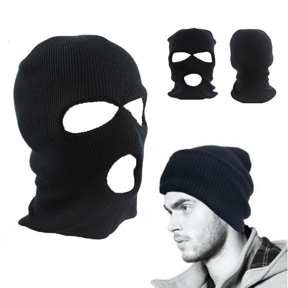 Army Tactical Winter Warm Face Mask Bicycle Thinsulate Warm Ski Cycling Hat Neck balaclava Wargame Special Forces Black Mask