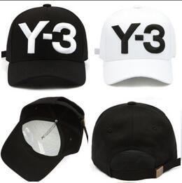 3d6408d5 Cheap Y 3 Dad Hat Big Bold Embroidered Logo Baseball Caps Adjustable  Strapback Hats Y3 Bone Snapback Sport Casquette Visor Gorras Hiphop Hat  Snapback Cap ...