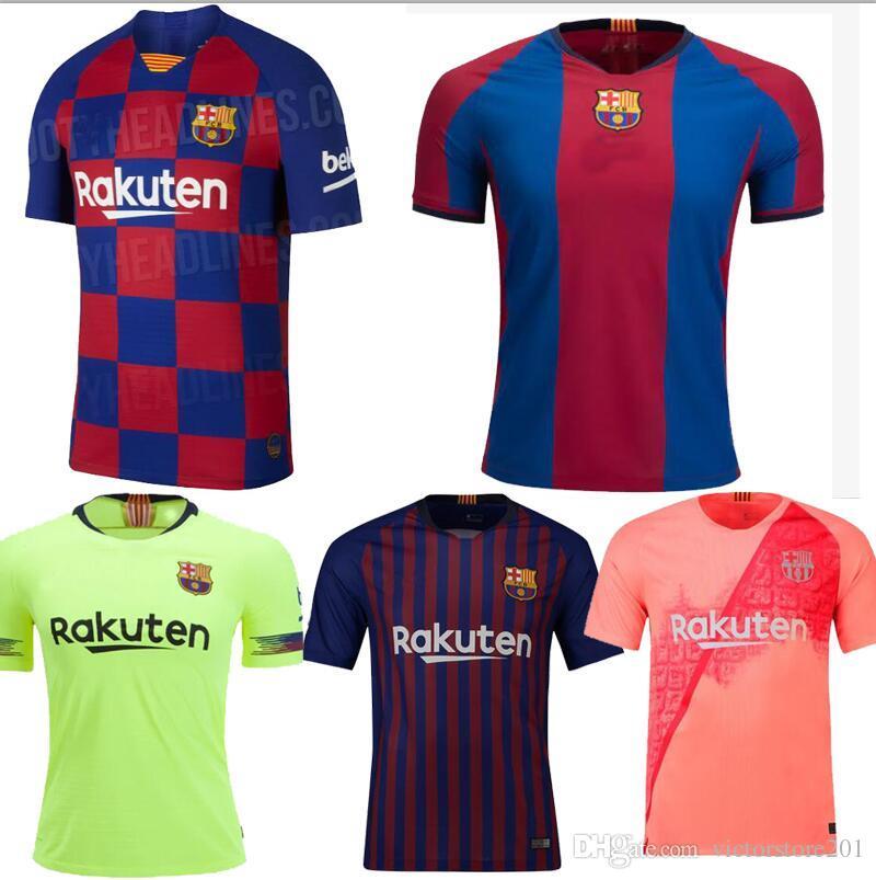 ac710b7110 2019 18 19 20 BARCELONA SOCCER JERSEYS HOME MESSI Camiseta De Fútbol ...