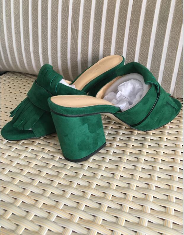 hot selling women thick heel sandals shoes office lady casual thick bottom sandals green short heels girls fashion black shoes 9 #T02 7dfg