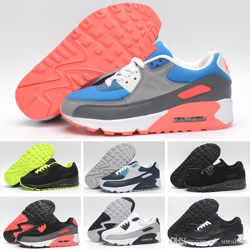 Nike Air Max 90 95 97 98 270 2018 Sneakers Shoes classic 90 Men and women Shoes Sports Trainer Cushion Surface transpirable Shoes 36 45 Envío gratis