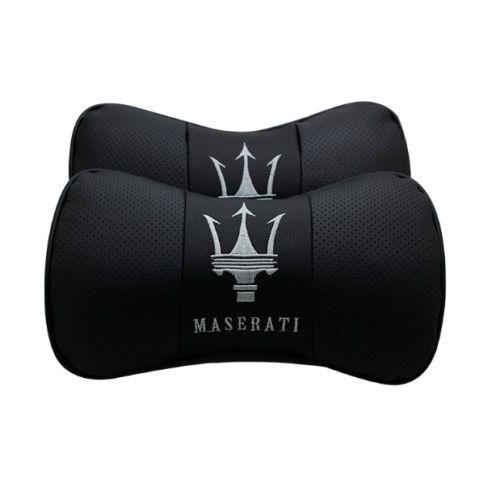 2X Car Auto Black Seat 100/% cowhide Protect Neck Rest Belt Headrest Pads for fit