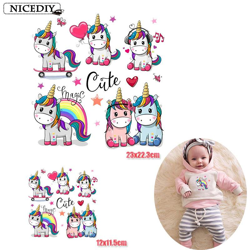 Unicorn heat transfer hot sticker exclusive unicorn clothes print iron on vinyl transfer shirt decoration buy large size to send small size