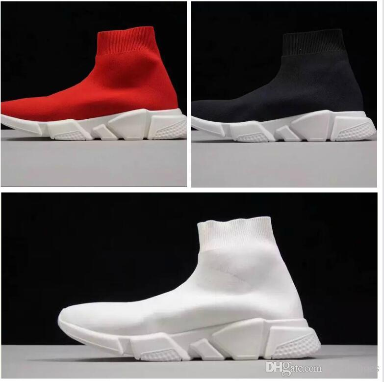 e35da9926d08 Latest Design Cheap Original 2018 Women Men Sock Running Shoes Speed  Trainer Sports Sneakers Top Boots Casual Shoe Men 36 45 Mens Boat Shoes  Boat Shoes For ...