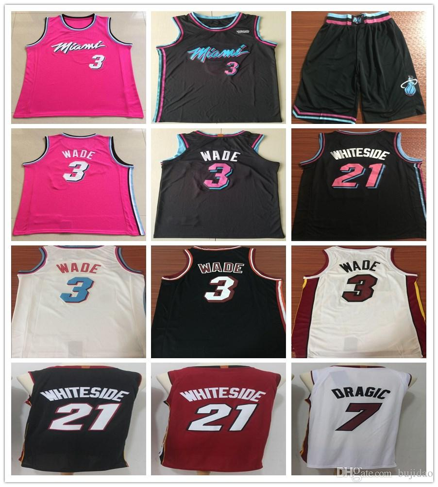 3ba16c34393 ... cheap 2019 2019 earned edition pink 3 dwyane wade jerseys new city  black white red 21