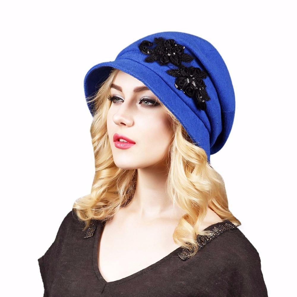 d014629f06066 Fashion Autumn Winter Women s Woolen Fedora Caps Bucket Caps For ...