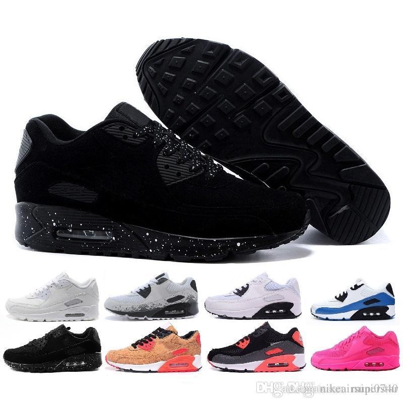 f8160ffa4489 Compre Nike Air Max 90 2019 Nueva Venta Al Por Mayor De Alta Calidad De Los  Hombres Y Las Mujeres 90 Ultra Zapatillas De Deporte Amortiguador De Aire  ...