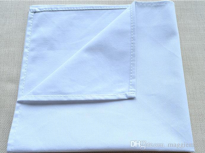 White Hemstitched Napkins Cocktail Napkin For Party Wedding Table Cloth Linen Napkins Cotton Napkins 50x50cm