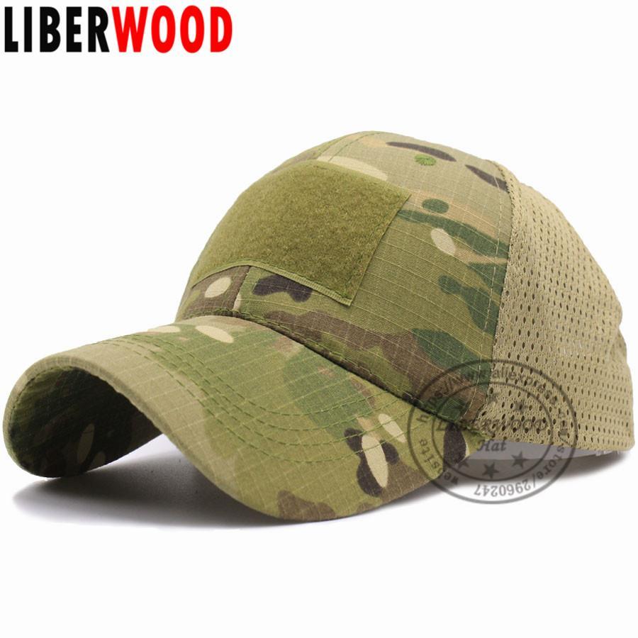 13735c359 LIBERWOOD ACU Multicam Operator Hat Special Force Camo Mesh Cap Airsoft Hat  for Men Tactical Contractor Army Baseball caps Hat