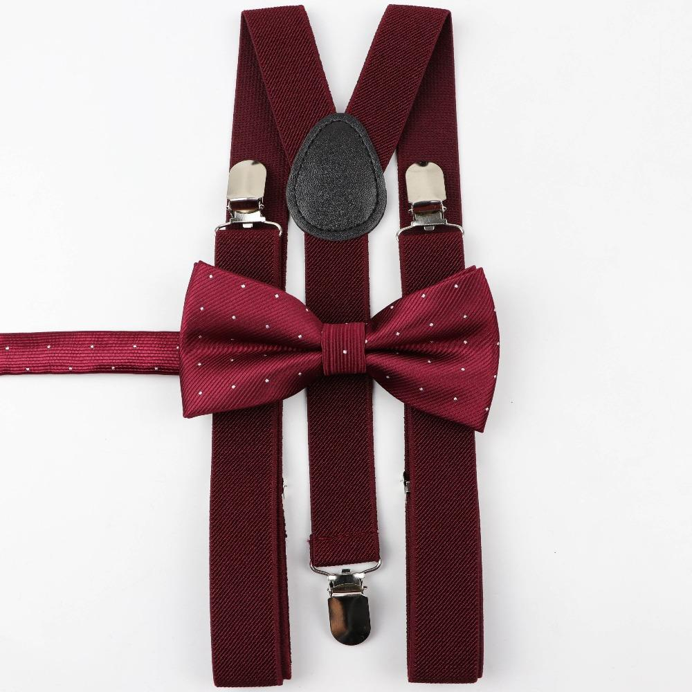 052dfa4c1 Soild Color Man s Belt Bowtie Set Men Women Suspenders Polyester Y-Back  Braces Star Silver Point Bow Tie Adjustable Elastic. Store-wide Discount