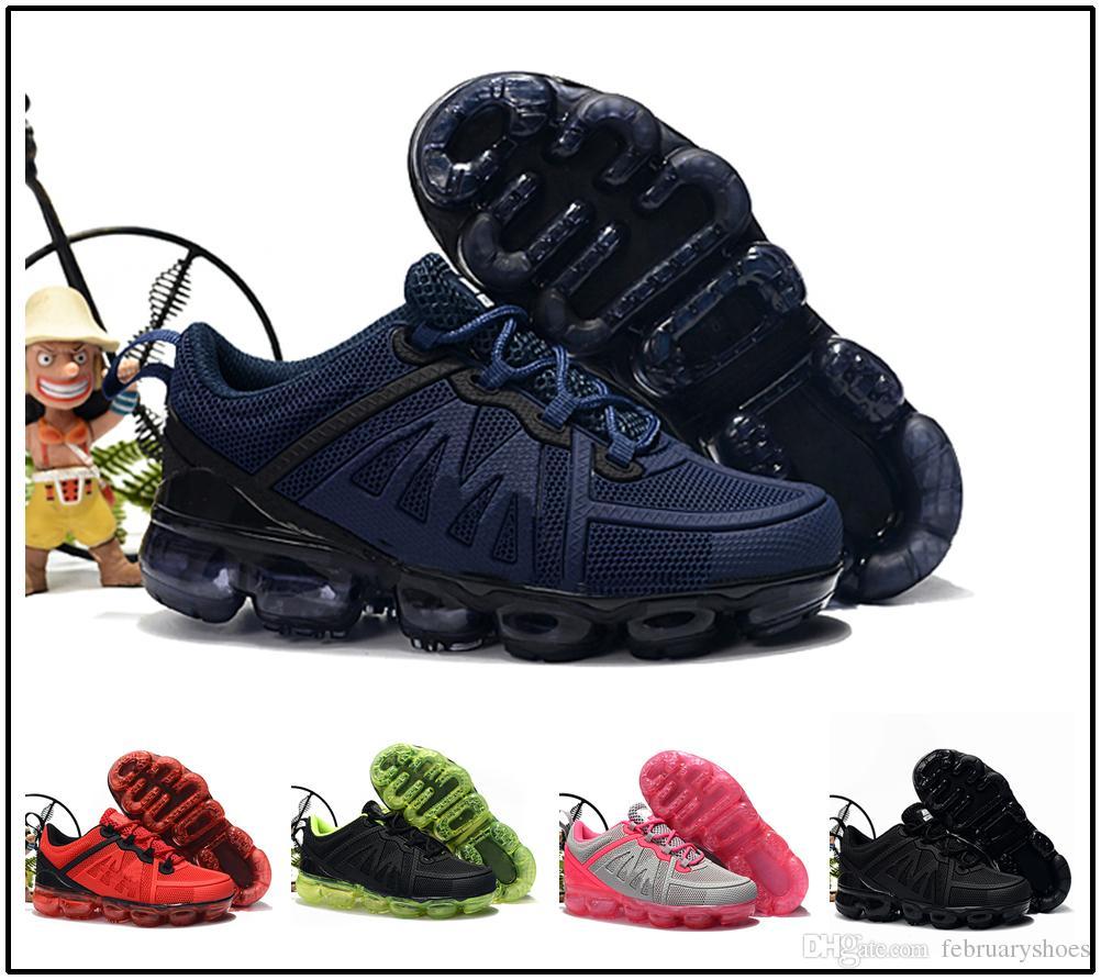 nike air max airmax vapormax 2019 Hohe Qualität Kinder Sportschuhe Kinder Jungen Basketball Schuhe Kind Huarache Legende Blau Designer Turnschuhe