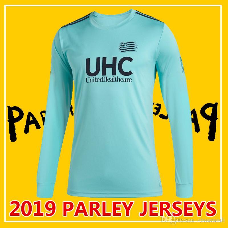 online store e1d92 7274f 2019 Parley MLS England Long sleeve soccer jerseys Football shirt 19 20 MLS  Parley Revolution Long sleeve soccer jerseys