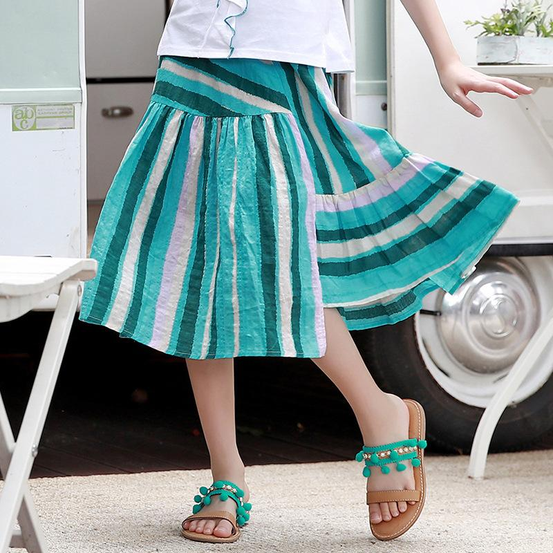 Women Skirt 2019 Spring and Summer New Contrast Color