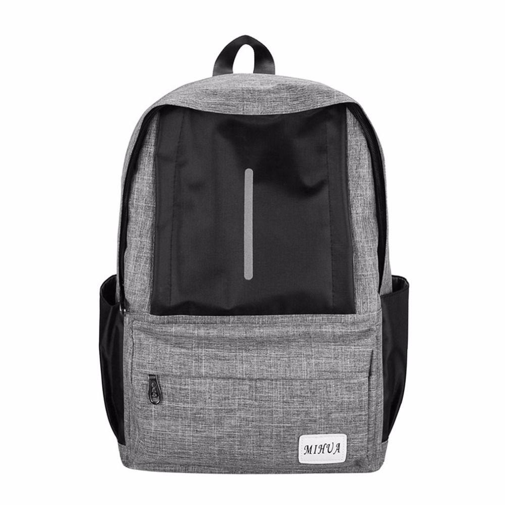 b727f8c744 Casual Design Large Capacity Men Women External USB Charge Backpack ...