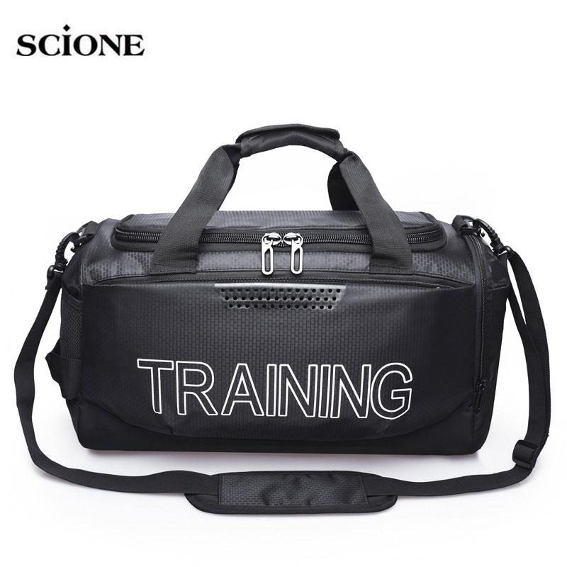a51af1251e1d Nylon Gym Bags for Fitness Training Sports Bag Travel Shoulder Large ...