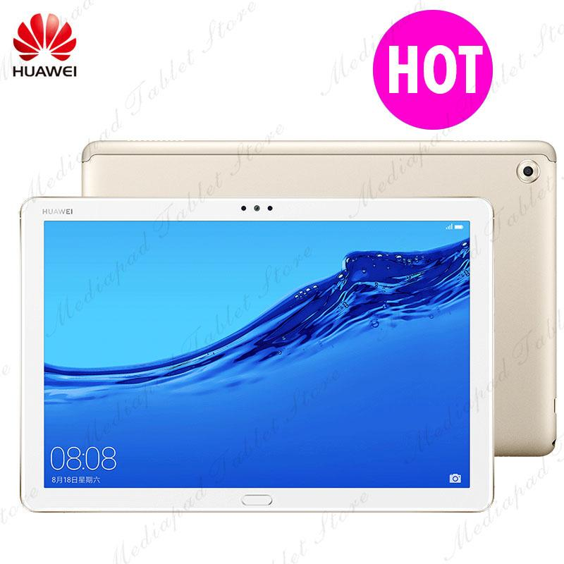 Original HUAWEI MediaPad Tablet M5 lite 10 1 inch Android 8 0 Octa Core 4GB  RAM 64GB ROM WIFI LTE Version Support Type-C MicroSD
