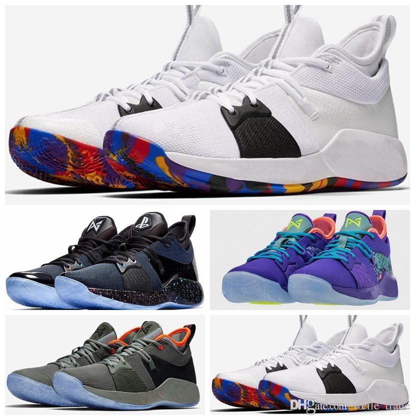 save off fe9d0 670f2 New Arrival Paul George 2 Men Basketball Shoes Hig quality PG2 PS4  Playstation Black BLue Red White PG 2s Sports Sneakers des chaussures
