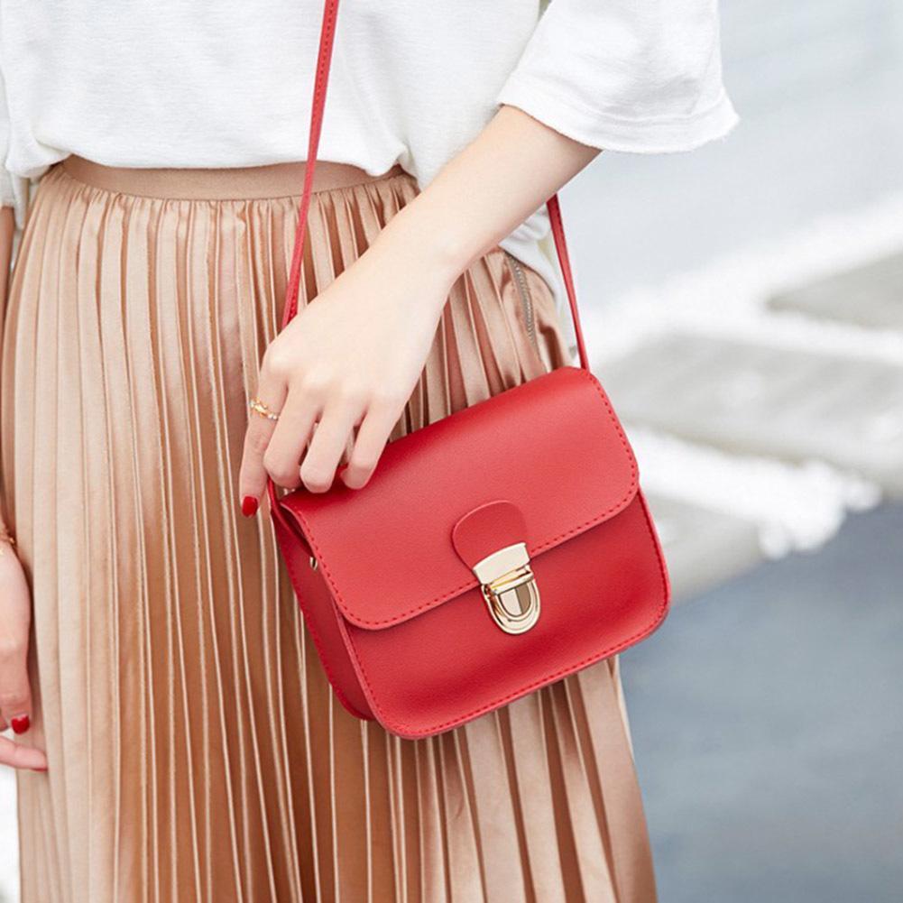 f26595cc4a6a Cheap Fashion 2019 Hot Sale Women Korean Style Mini Solid Color Buckles PU  Messenger Bags Ladies Chic Crossbody Bag Shoulder Bags For Men Fiorelli  Handbags ...