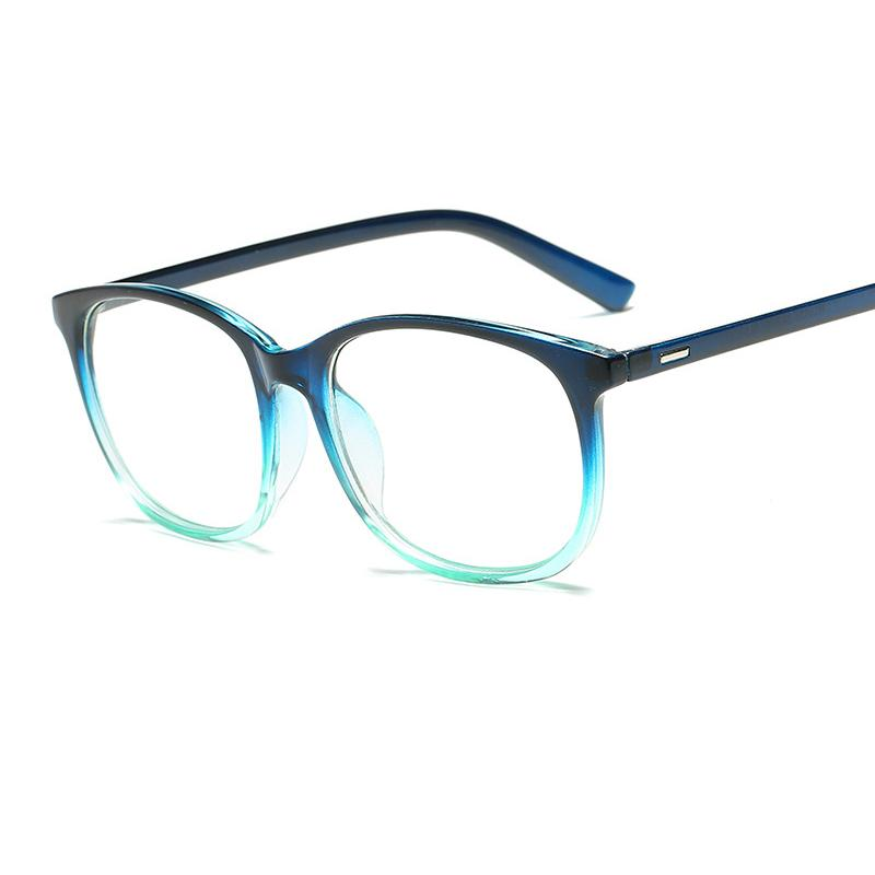 b271ba9487e 2019 New Oval Fashion Glasses Frame Simple Retro Men And Women Decorative  Flat Mirror Classic Middle Frame Trend Student Glasses.