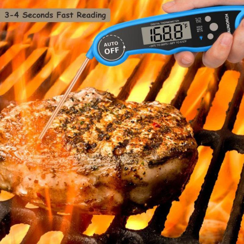 Digital Cooking Food Thermometer Stainless Steel Food Cookin Collapsible Measuring Instrument Meat Household Detector Kitchen Grill DH0150
