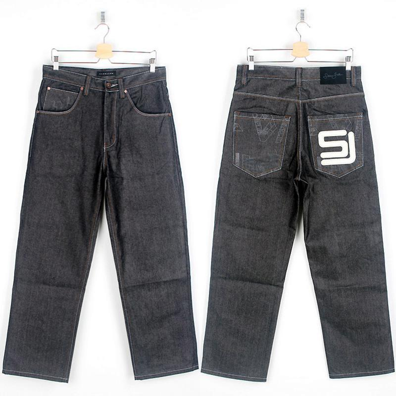 Acquista Originale Jeans Skateboard Uomo Europeo 46 Pantaloni Hip Hop  Stampati Nero Baggy Di Marca Abbigliamento SJ Kanye HipHop Pantaloni Cargo  A  43.56 ... 221ad013371b