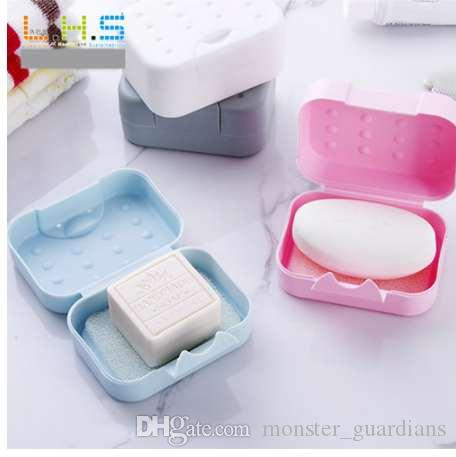 e289336f9450 New Bathroom Soap Dish Plate Case Home Shower Travel Holder Container Soap  Box Hot Plastic Box Dispenser Soap Rack