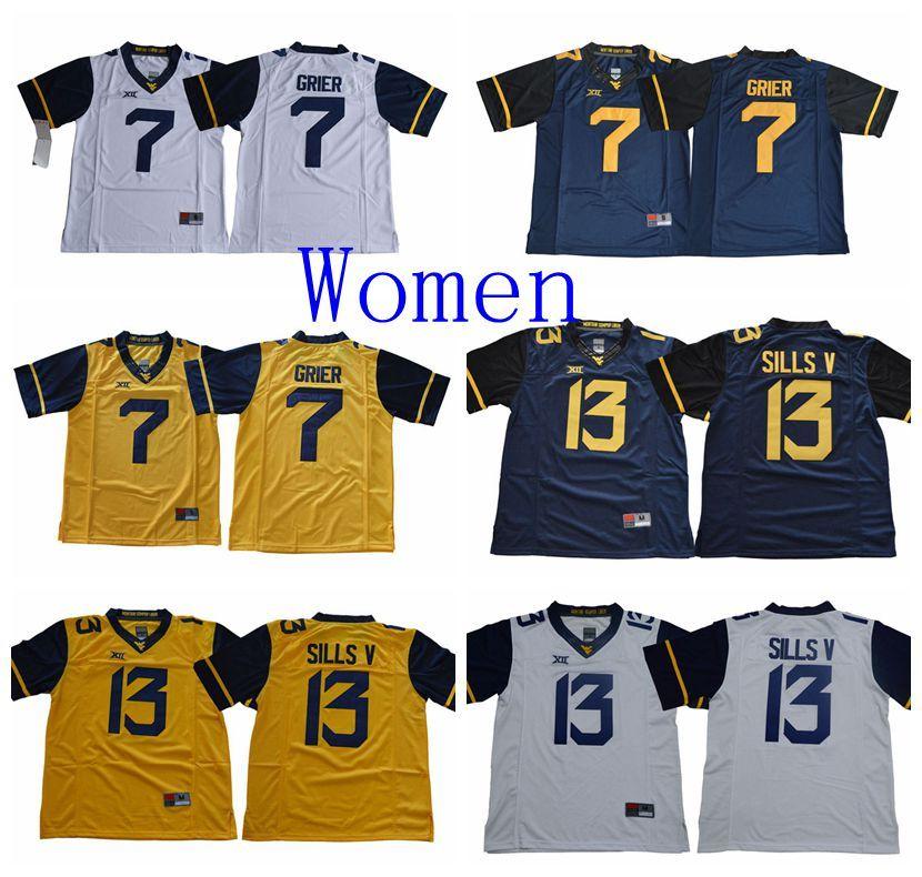 1a2586686f5 2019 2019 Women NCAA Jersey West Virginia Mountaineers 7 Will Grier 13  David Sills V Jersey College Football Jersey Custom Men Sport Jerseys From  Tt_jersey, ...