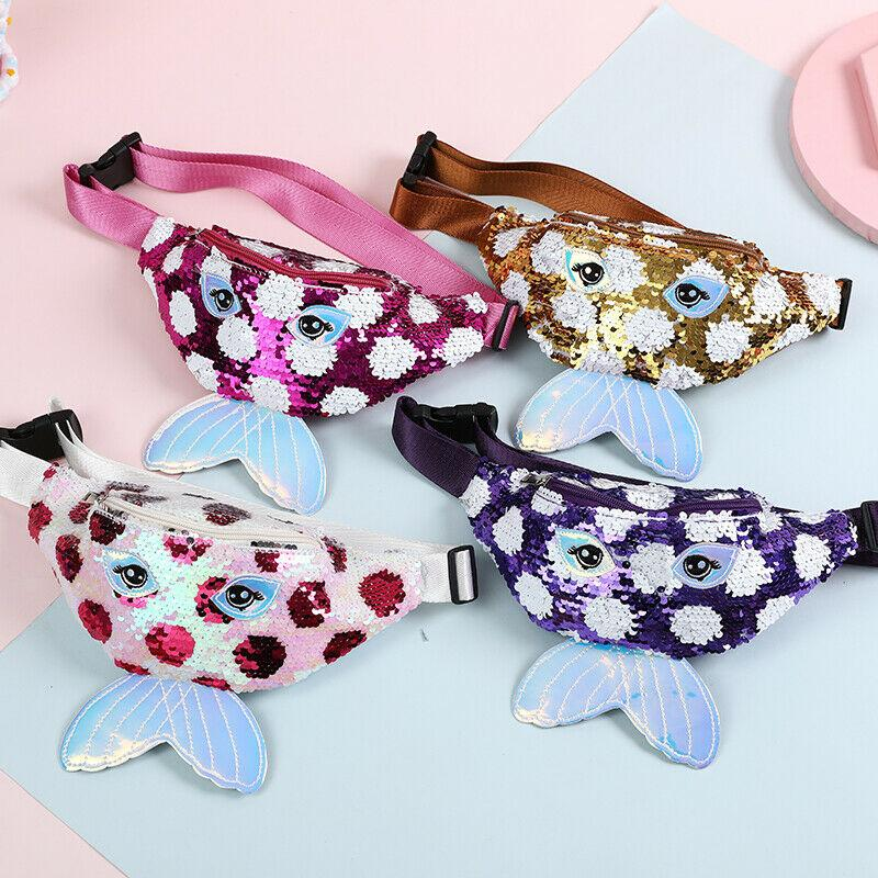 2020 Fashion Kids Baby Sequins Belt Waist Wallet Hip Pouch Bum Bag Travel Holiday Party Bags