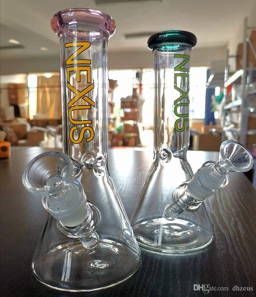 Dhzeus shop Glass bong oil rig NEXUS classic series beaker bong water bongs dab rigs with bowl