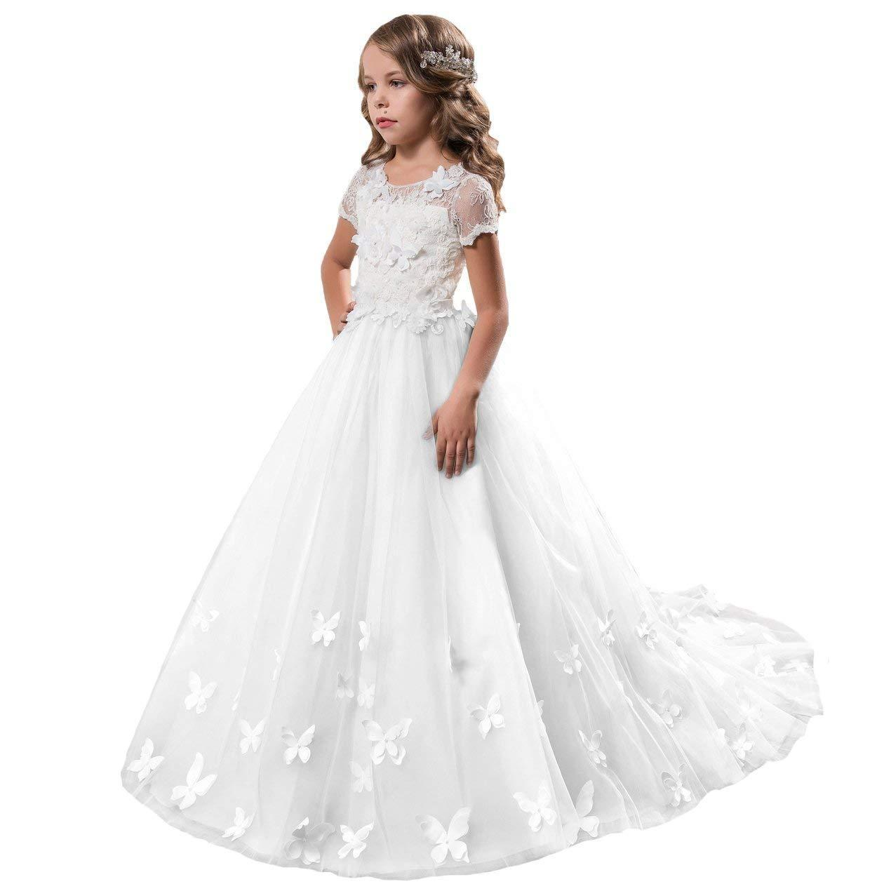 74353239595 Flower Girl Dress Brithday Dress Party Fancy Girls Pageant Mint Blue Dresses  0 14 Year Old Formal Cheap Ivory Flower Girl Dresses Couture Flower Girl ...