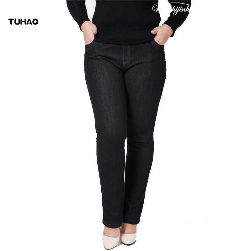 8863a67d21 Tuhao High Waist Femme Jeans Spring Summer Office Lady Jeans Trousers For  Women Denim Pants Large Size 3xl 4xl Pants Yh05 C19041001