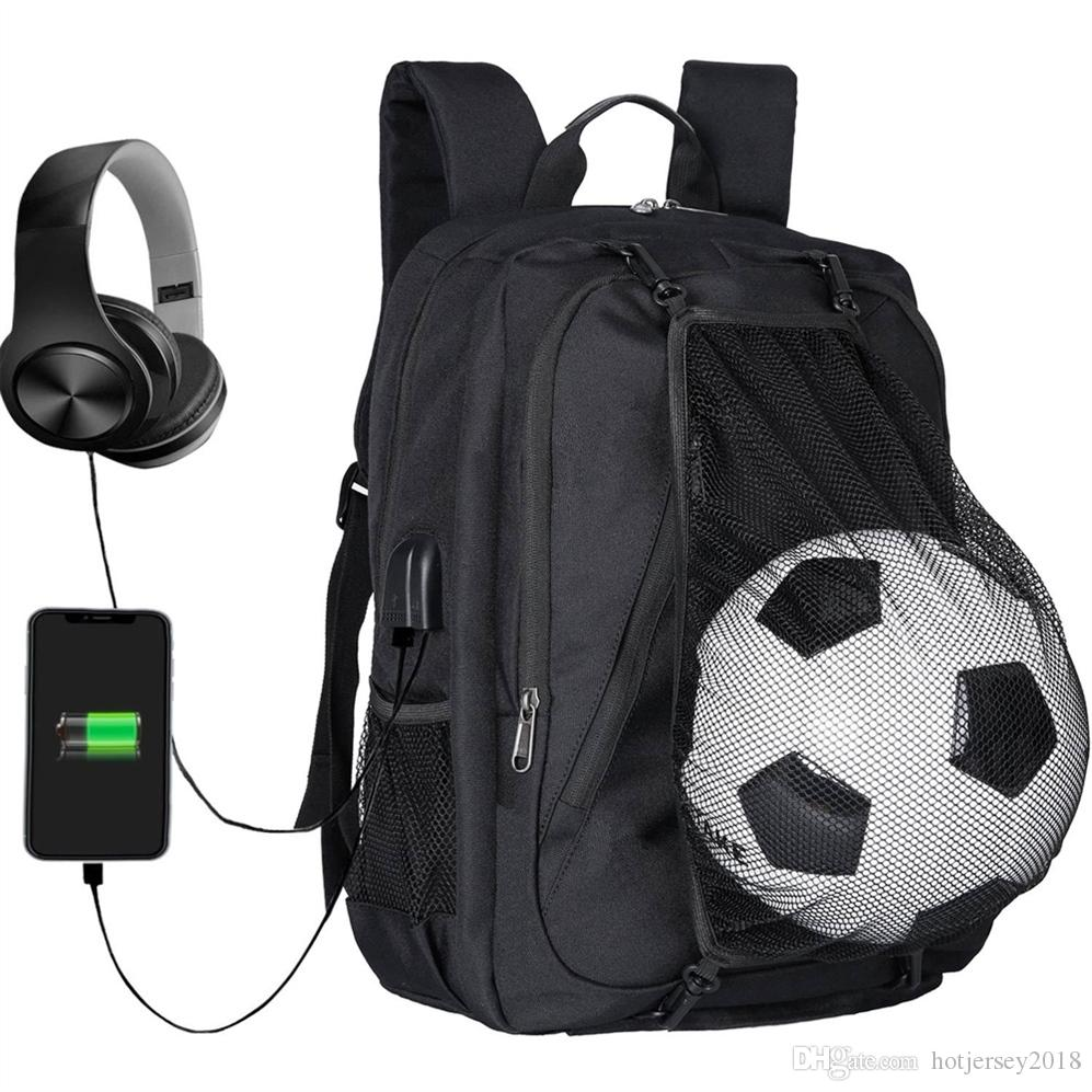 70e27b3a2e92 Soccer Backpack Basketball bags School travel Bag For Teenager sport Ball  Pack Laptop Bag Football Net Gym Bags 2018 newest #251012