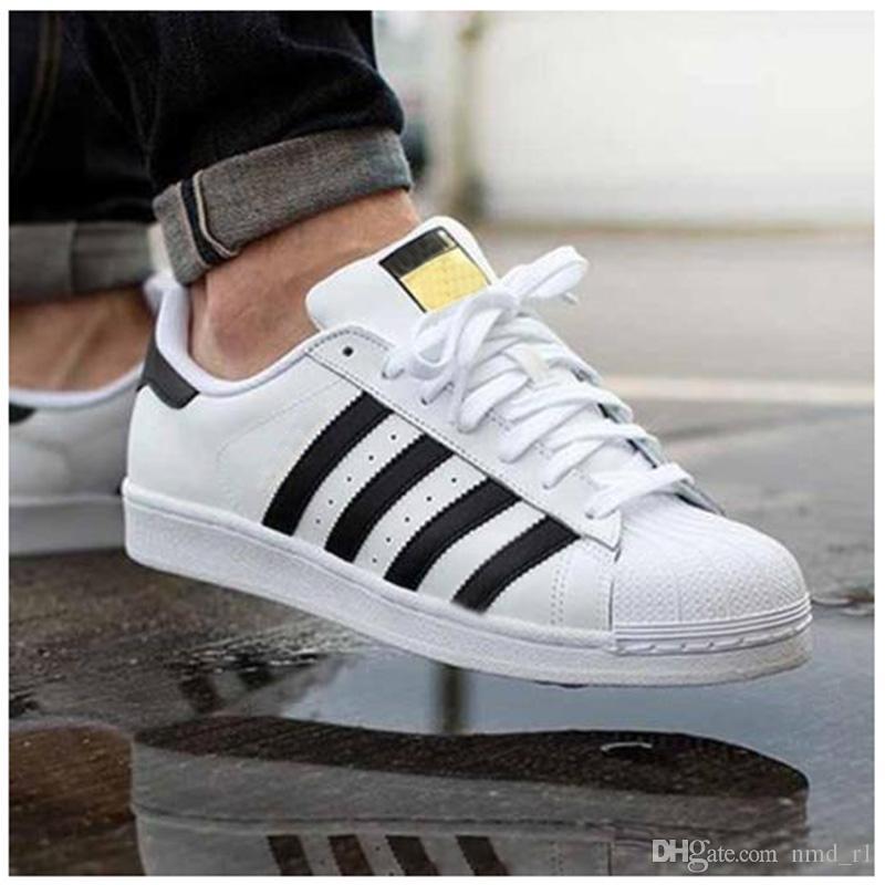 premium selection 8d1ec fd027 Superstars Freizeitschuhe Mann Frau Sneakers Super Star Schuhe Shell Kopf  Schuhe Heißer Verkauf Holographische Shoes36-44